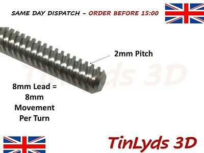 T8 3D Printer 8mm Lead Screw Rod Z Axis Linear Shaft CNC TABLE TOP LASER CUTTER