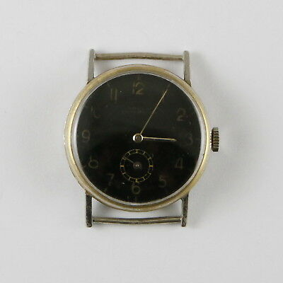Antique Vintage Art Deco Military Wristwatch Dorex Ancre 15 Ruby
