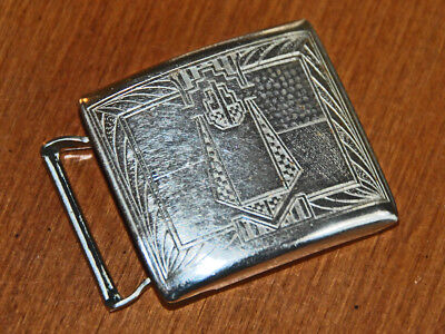 """AN EARLY 20th CENT ART DECO SILVERPLATE BELT BUCKLE 1-3/4"""" X 1-3/8"""" XCND FOR AGE"""