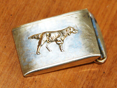 """AN EARLY 20th CENT HICKOK USA W/ DOG BELT BUCKLE 1-3/4"""" X 1"""" VERY GOOD FOR AGE"""