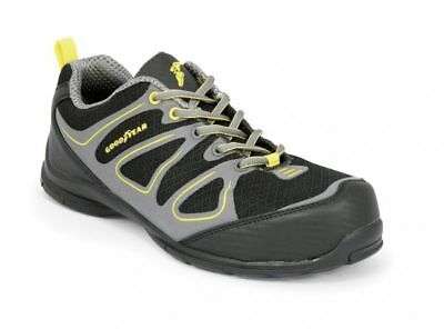 Goodyear  GY1509 Black + Yellow Safety Trainer Composite Toe Metal Free Size 6