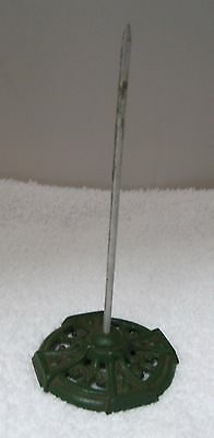 """Antique Cast Metal Bill """"Hook"""" Spike Green 5 1/2 Inches Nice Old Green T1"""