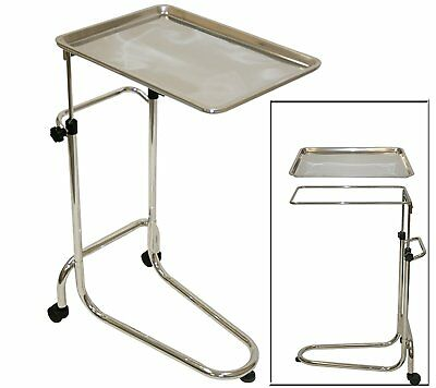 LCL Beauty Extra Large Stainless Steel Double-Post Mayo Instrument Stand & Work