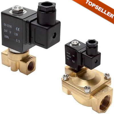2/2 Way Solenoid Valve made from Brass, Eco-Line, currentless Closed Valve