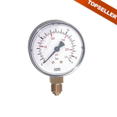 Manometer, Pneumatic, Vertical, Connection Bottom Small 2.5 div. mod. Type