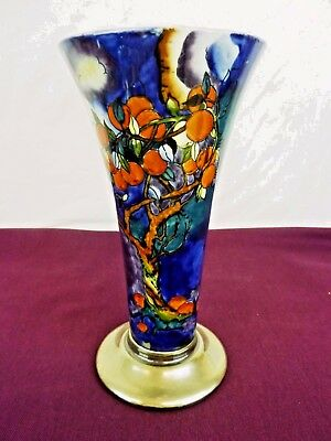 Hancocks Corona Ware Molly Hancock Cherry Ripe Vase  Hand Painted           #cr#