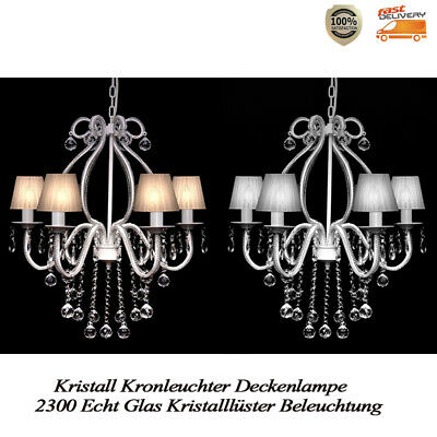 kristall kronleuchter deckenlampe 2300 echt glas kristalll ster beleuchtung wei eur 79 99. Black Bedroom Furniture Sets. Home Design Ideas