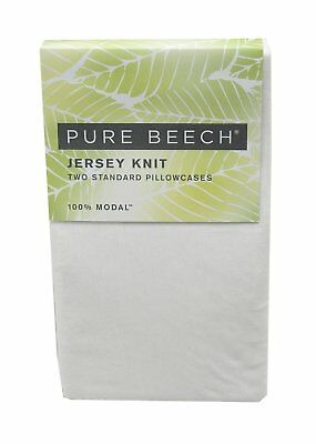Pure Beech Two Standard Jersey 100%-Modal Knit Pillowcases, White