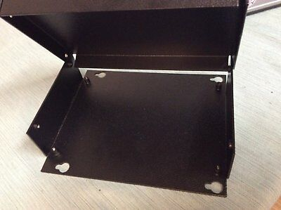 Metal Enclosure Powder Coated Sheet Metal Bottom Top Black Box