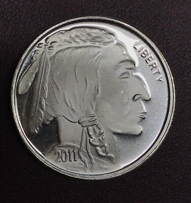 2011 -1 oz- Indian Head - Buffalo Silver Round - .999 Fine Silver