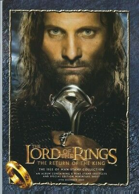 Isle Of Man Stamp Collection Folder Lord Of The Rings (Return Of The King) Mnh