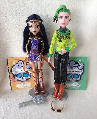 Monster High Boo York Cleo de Nile, Deuce Gorgon Dolls