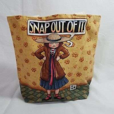 """Mary Engelbreit """"Snap Out Of It"""" Canvas Small Tote Bag Cotton Canvas"""