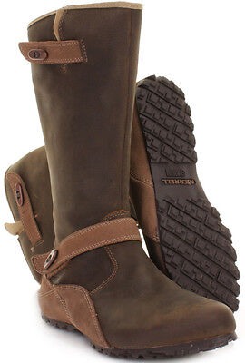 Merrell Haven Water Resistant Mid Calf Leather Boots, Otter UK 4 / EU 37