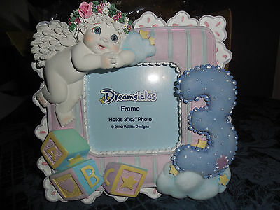 """Vtg Dreamsicles Picture Frame 3""""x3"""" #20275 """"when I Was Three""""  2003 New In Box"""