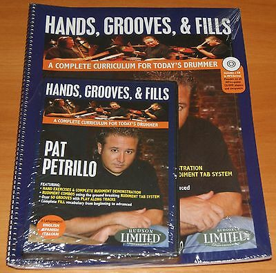 Pat Petrillo Hands Grooves & Fills Drum Schlagzeug Lernmethode Notenbuch CD DVD