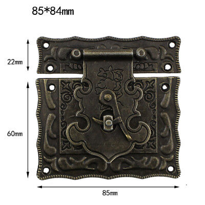 Large Size Antique Style Hardware Bronze Tone Metal Rectangle Latch 85*84mm