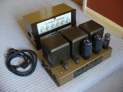 Rca Lmi -32216 Orthophonic Power Amplifier With Lmi-32215A Pre-Amplifier And Lmi