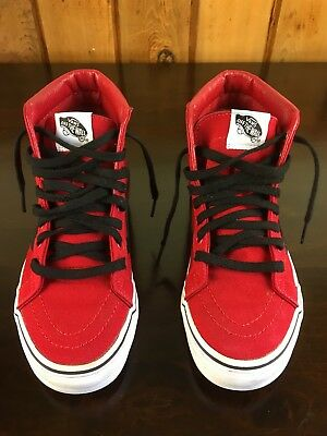 Youth Vans Red High top size 5.5y/Womens size 7