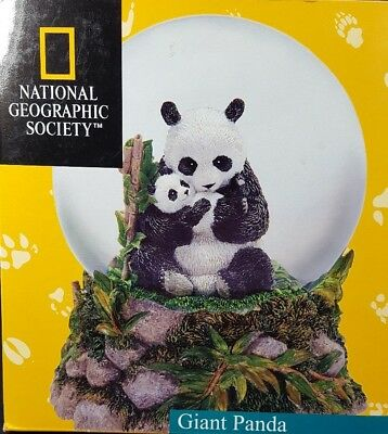Giant Panda National Geographic Society Water Snow Globe San Francisco Music Box