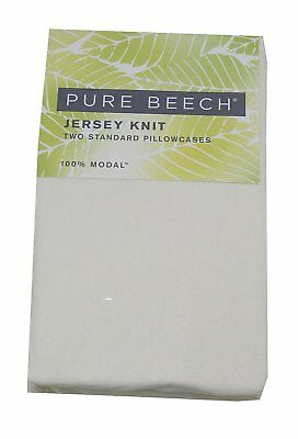 Pure Beech Two Standard Jersey 100%-Modal Knit Pillowcases, All Natural