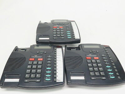 Lot of 3 Aastra 9133i SIP LCD Display VOIP Business Phones