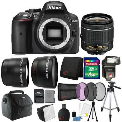 Nikon D5300 24.2MP DSLR Camera 18-55mm Lens + TTL Flash + Ultimate Accessory Kit