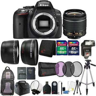 Nikon D5300 24.2MP DSLR Camera 18-55mm Lens + TTL Flash + Complete Camera Bundle