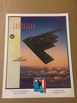 1997 - B-2 Stealth Bomber Naming Ceremony- LOUISIANA -Barksdale AFB - Lithograph