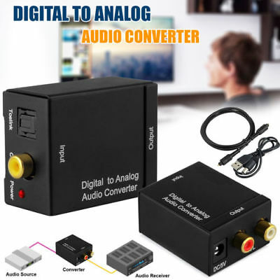 3.5mm Optical Coaxial Toslink Digital to Analog Audio Converter Adapter RCA