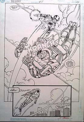 The COMET #5 p.19 Battle Splash by Kevin West and Scott Hanna (signed)