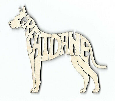 GREAT DANE Dog laser cut and engraved wood Magnet
