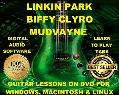 Linkin Park 311 & Mudvayne 141 Guitar Tabs Software Lesson CD 113 Backing Tracks