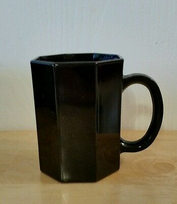 Arcoroc Luminarc France Black Octagonal 8 Sided Coffee Cup