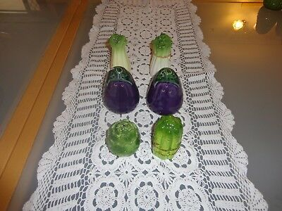 Vintage Novelty Bulk Vegetable Salt And Pepper Shakers