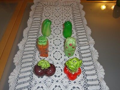 Vintage Novelty Bulk Vegetable Salt And Pepper Shakers lot B