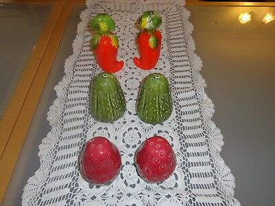 Vintage Novelty Bulk Vegetable Salt And Pepper Shakers lot C