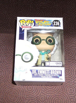 NEW Funko Pop! Dr. Emmett Brown Doc Loot Crate Exclusive #236 Back to the Future