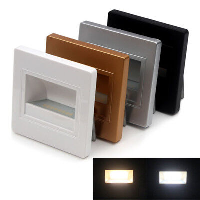 Modern 8 LED Footlight Square Wall Light Lamp For Stairs Step Corner Decor