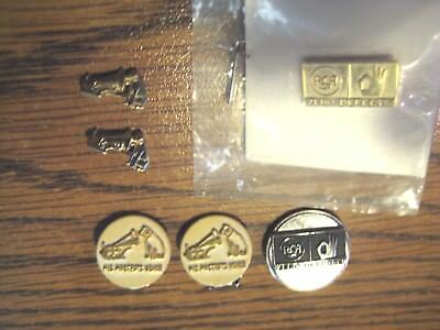 Lot Rca Victor 0 Defects Pins Nipper Dog Earrings His Masters Voice