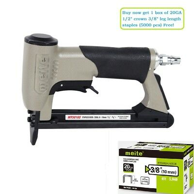 meite MT5016S 20GA 1/2-Inch Crown Pneumatic Upholstery Stapler Gun with Safety