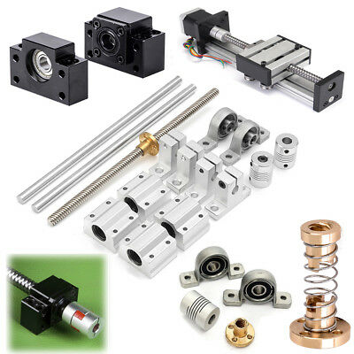 Steel Rolled Ball Lead Screw Bearing Stepper Motor For End Machined CNC Parts