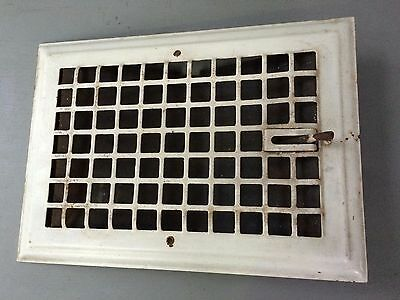Antique Metal Floor/ Wall with Grate Heat/Air Return Register Vent