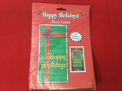 """New Favors Happy Holidays Door Cover Party Accessory (1 count) (1/Pkg) 30 X 60"""""""