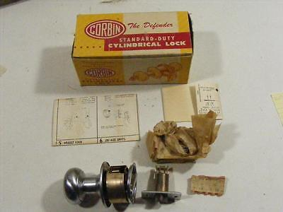 Vtg NOS Corbin Keyed Closet Door Knob Handle