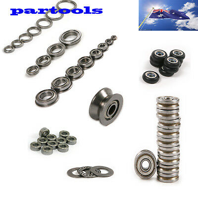 AU U/V flanged miniature/Miniature Thrust groove Sealed Ball Bearings