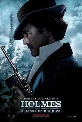 Original Double Sided Movie Theater Poster 27X40 SHERLOCK HOLMES A GAME OF SHADO