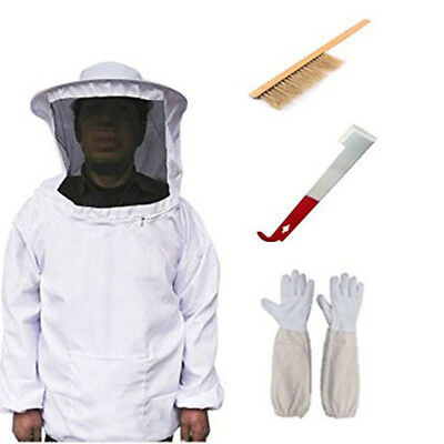 Protective Beekeeping Bee Keeping Jacket Veil Suit Gloves Brush Blade Beehive