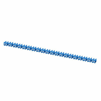"""20Pcs Letters """"2"""" Network Cable Labels Markers Blue for 1.0-3.0mm Dia Wire"""