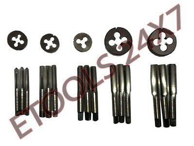"""Hss Bscy Cei Bsc 26 Tpi Cycle Thread Tap Die Set 1/4"""" To 1/2"""" - 20 Pcs Set New"""